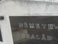A Németh Család feliratú sír és halottai, lázi-i temető