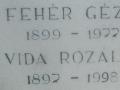 Anyai nagyapám és nagyanyám sírja, veszprémvarsányi temető